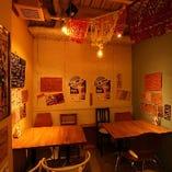 【テーブル個室】15名様まで宴会OK!アジアの香り漂う空間で盛り上がろう♪
