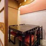 【少人数用テーブル個室/2名様~4名様×3室】ゆっくり座れるくつろぎの和空間