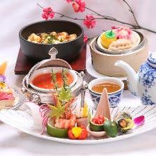 盤古宴会料理はほぼ全て個人盛りで一品一品美しい盛り付け、顔合わせに相応しい料理をどうぞ。