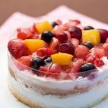 海で誕生日パーティー!!サプライズケーキのご用意可能!!