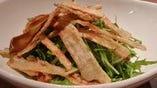さくさくごぼうと水菜のサラダ