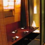 堀ごたつ席:簾で仕切る半個室 (10名~20名様のご宴会に最適)
