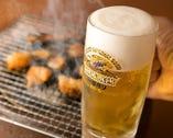 ホルモン×ビールは鉄板の相性◎ 暑い季節には最高です