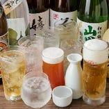 各コースには、飲み放題をお付けすることができます。