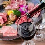 醤油ベースのタレには隠し味として赤ワインを使用。甘い焼肉を赤ワインの芳醇な香りがぐっと引き立てます。