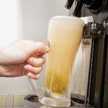 焼肉と相性抜群のビールも、もちろんご用意しています!
