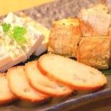 チーズの藁焼き盛り合わせ