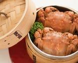 本場食材★陽澄湖産上海蟹蒸し