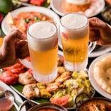宴会のスタートはやっぱりビール!