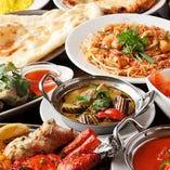 アジア料理のフルコース!生春巻き 、タンドーリチキン…他一杯