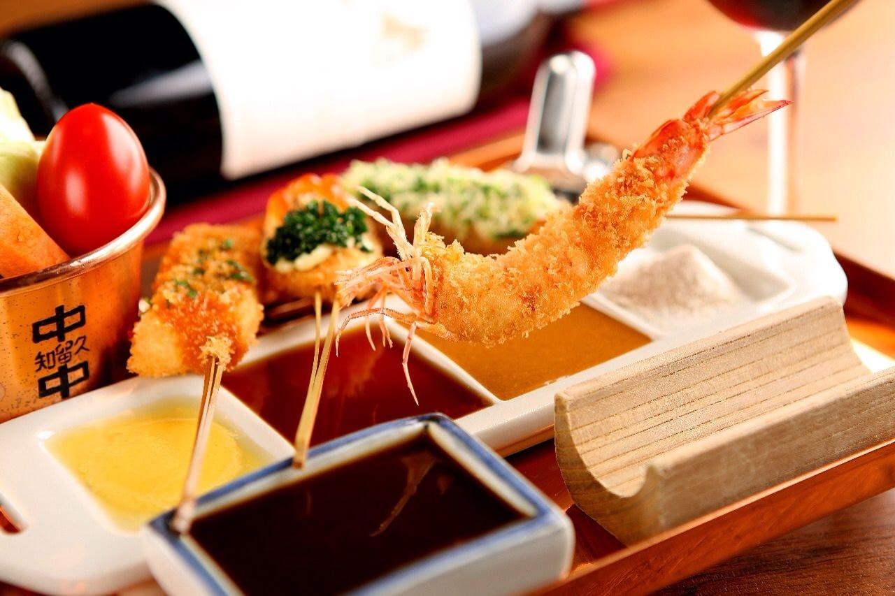 【ランチ】揚げたて旬の串が楽しめる「Aセット」1,800円
