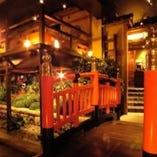 『川上の宴会席!』江戸の町並みをイメージした大スケールの店内