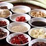 [調味料も厳選] 素材を調味料毎に最大限に引き立てる。