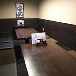掘りごたつタイプの個室でのびのび!宴会向き個室