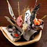 魚介串5種盛り