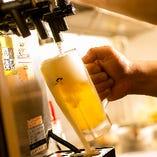 生ビールは「アサヒプレミアム生ビール 熟撰」
