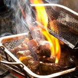 料理はすべて手作り♪焼きものはすべて土佐備長炭で焼いています