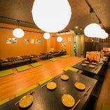 2階の掘りごたつ席は、大小様々な宴会にご利用可能。