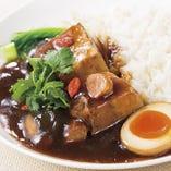 重慶式豚角煮あんかけ御飯セット