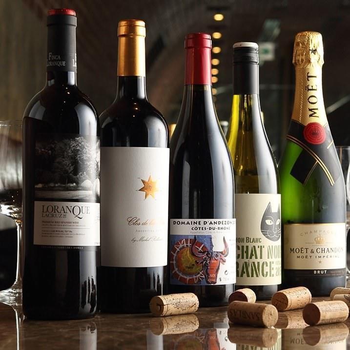 自社輸入の厳選ボトルワイン60種