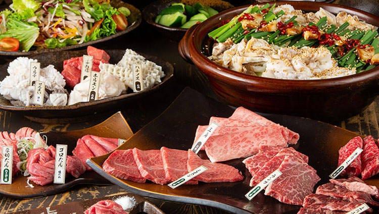 焼肉&かすもつ鍋を満喫◎宴会コース