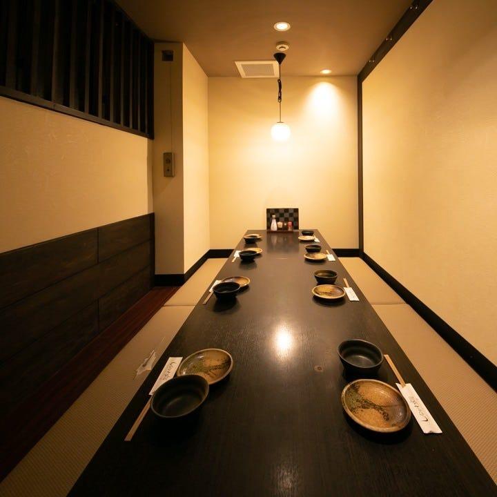 企業宴会や接待としても最適の個室席