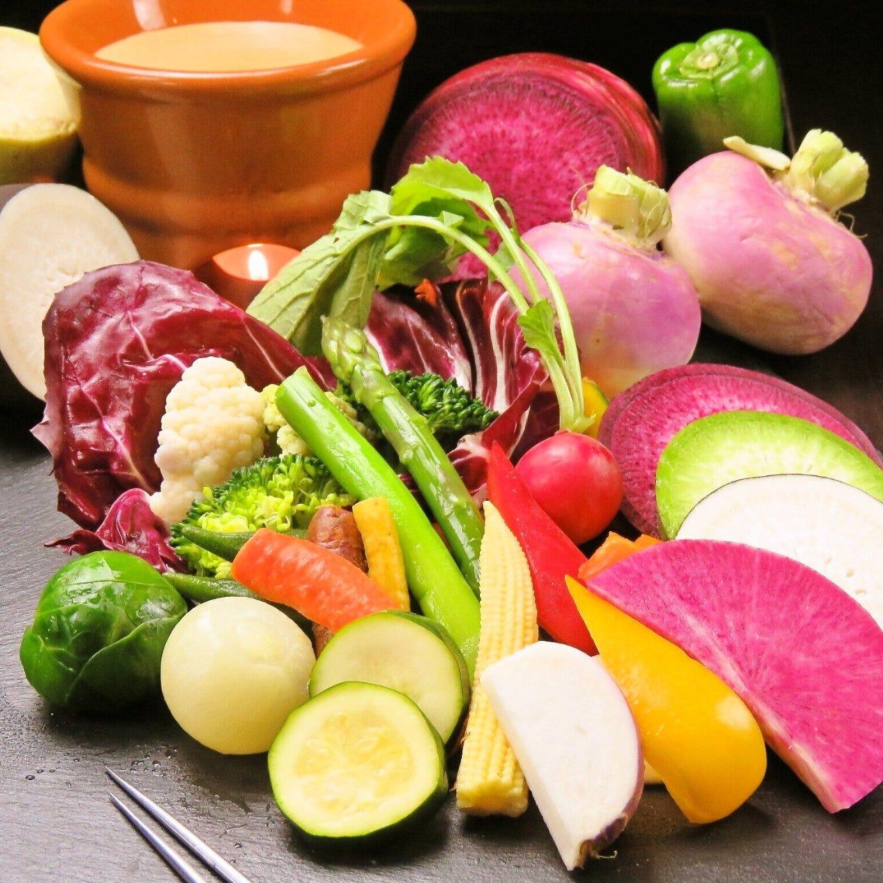 食材にこだわりあり♪彩りお野菜