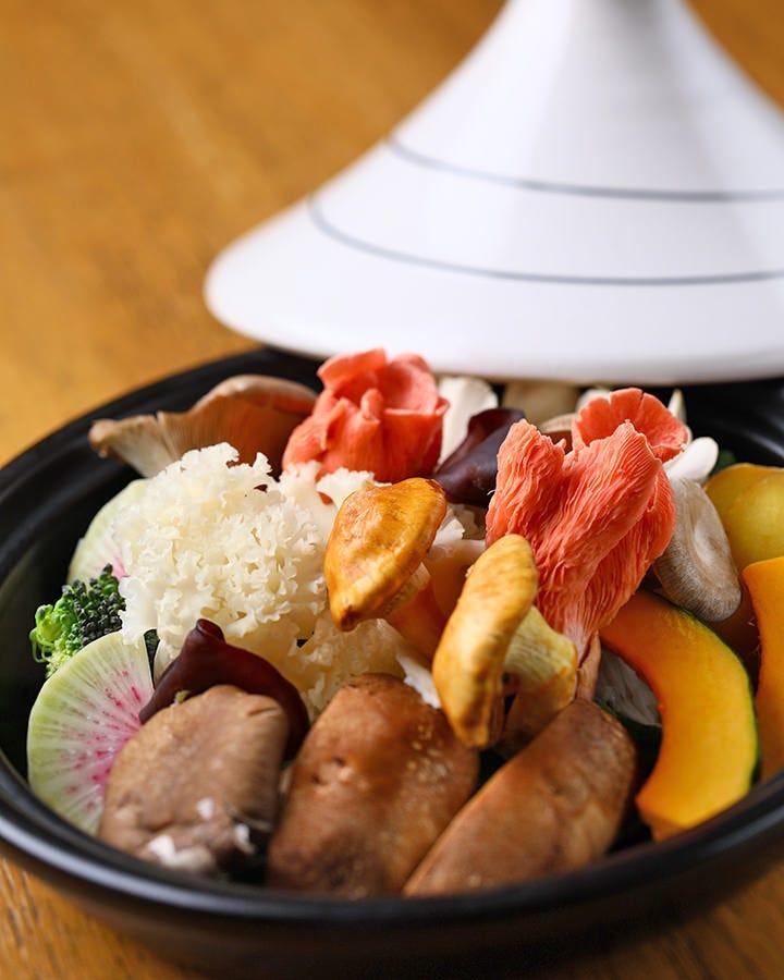 ◆自慢のきのこ料理をご堪能あれ!