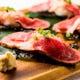 大判牛たたきの手巻き寿司