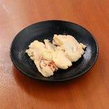 鶏皮パリパリ焼き