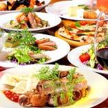 サウス名物のパスタやピッツァ、肉料理をコースでお得に堪能!