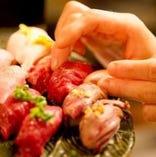 今話題の「肉寿司」をご堪能下さい♪