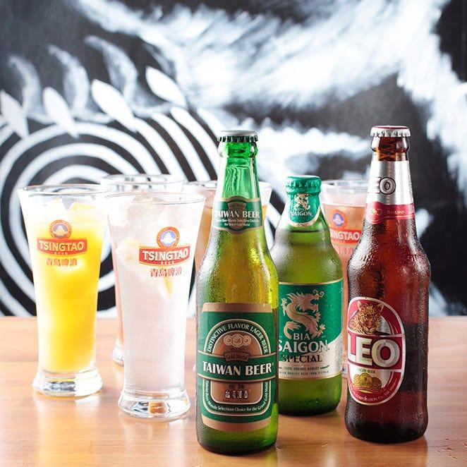 アジアのビールや台湾カクテル