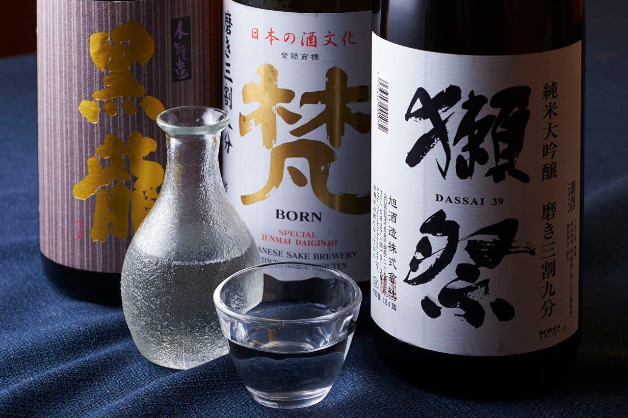 旬の味覚と利き酒師お勧めの日本酒を