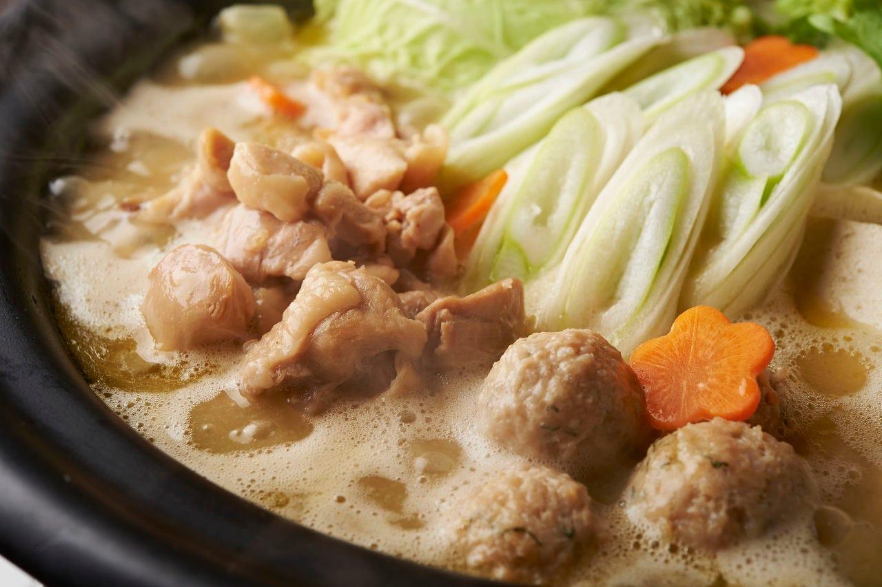 濃厚!鶏白湯スープの水炊き鍋!!!