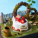 誕生日や記念日のお祝いにパティシエ特製牧場ジオラマケーキを☆