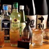 日本酒や焼酎など日本のお酒もご用意しています
