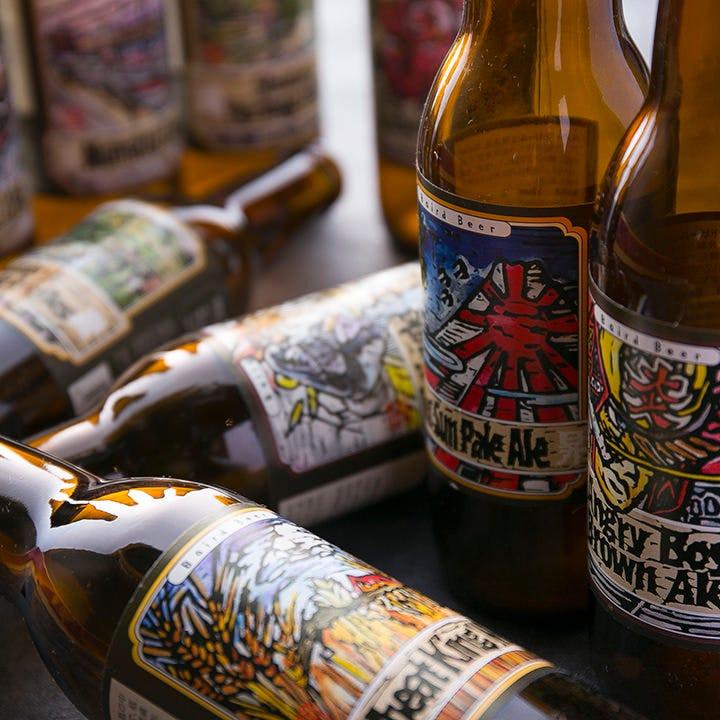 全国の地ビールも取り揃え! 無くなり次第新しい種類をご用意