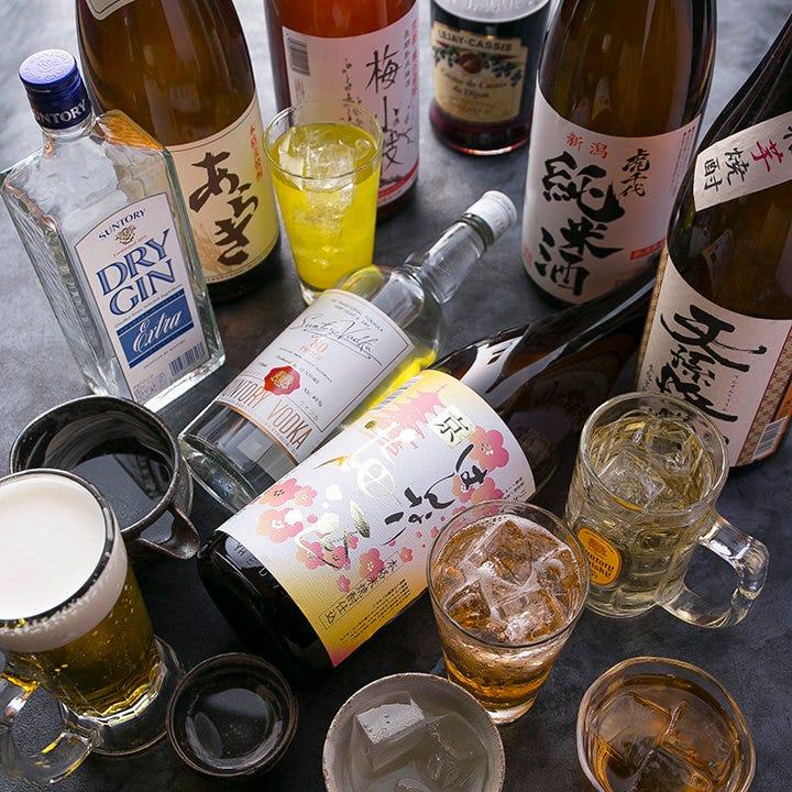 日本酒・焼酎以外にも種類豊富! ハイボールなどもおすすめです