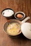 骨付きさつま鶏のスープ炊き(雑炊セット)