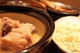 骨付きさつま鶏のスープ炊き(ラーメンセット)