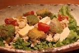 鶏肉と豆腐のアボカドサラダ~和風ゆずドレッシング~