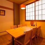 ご家族でのお食事や少人数のご宴会にオススメの寛ぎ和風個室