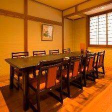 落ち着いた雰囲気の純和風の完全個室
