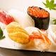 おまかせ寿司 全5貫!もちろん無添加生うにが入っています。
