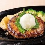 <牛100%>和風おろしハンバーグ(サラダバー付)