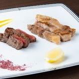 2種のステーキ