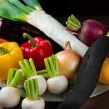 地元で採れた新鮮野菜を使用