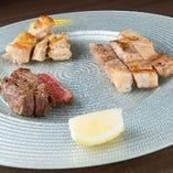 3種のステーキ