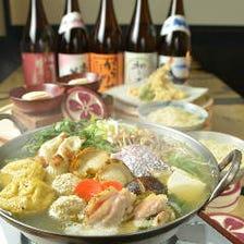 うどんすきに鴨鍋が美味しい季節です